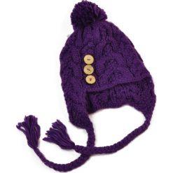 Czapka damska Guziki trzy fioletowa (cz1541). Fioletowe czapki zimowe damskie Art of Polo. Za 34,62 zł.