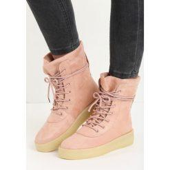 Buty zimowe damskie: Różowe Botki Cold Snap