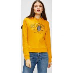 Only - Bluza Eva. Pomarańczowe bluzy rozpinane damskie ONLY, l, z nadrukiem, z bawełny, z kapturem. W wyprzedaży za 99,90 zł.