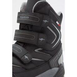 KangaROOS REEN Śniegowce jet black/steel grey. Niebieskie buty zimowe chłopięce marki KangaROOS. W wyprzedaży za 174,30 zł.