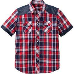 Koszula z krótkim rękawem Regular Fit bonprix czerwony w kratę. Brązowe koszule męskie marki QUECHUA, m, z elastanu, z krótkim rękawem. Za 74,99 zł.