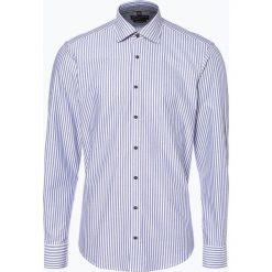 Nils Sundström - Koszula męska, niebieski. Niebieskie koszule męskie na spinki Nils Sundström, m, z bawełny, z włoskim kołnierzykiem. Za 119,95 zł.