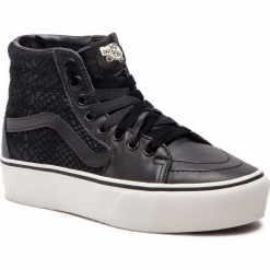 Sneakersy VANS - Sk8-Hi Platform 2 VN0A3TKNUQF1 (Leather) Snake/Black. Czarne sneakersy damskie Vans, z gumy. W wyprzedaży za 309,00 zł.