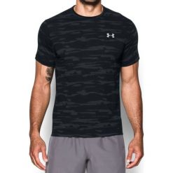 Under Armour Koszulka męska Threadborne Run Mesh SS czarna r. XL (1298851-001). Szare koszulki sportowe męskie marki Under Armour, z elastanu, sportowe. Za 117,75 zł.
