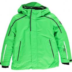Kurtka narciarska w kolorze zielonym. Zielone kurtki chłopięce marki CMP Kids. W wyprzedaży za 207,95 zł.