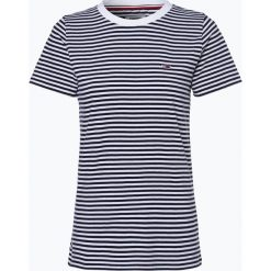 Tommy Jeans - T-shirt damski, niebieski. Niebieskie t-shirty damskie Tommy Jeans, s, w paski, z bawełny. Za 119,95 zł.