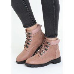 Różowe Traperki Autumn Breaker. Czerwone buty zimowe damskie Born2be, na obcasie. Za 109,99 zł.