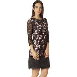 Sukienki hiszpanki: Sukienka w kolorze biało-czarnym
