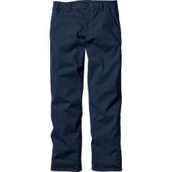 Spodnie ze stretchem chino Slim Fit Straight bonprix ciemnoniebieski. Niebieskie chinosy męskie marki bonprix. Za 89,99 zł.