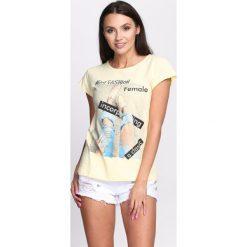 Bluzki, topy, tuniki: Żółty T-shirt Sunflowers