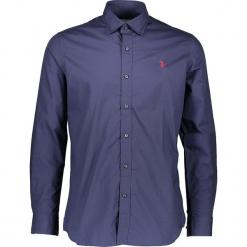 Koszula w kolorze granatowym. Niebieskie koszule męskie marki U.S. Polo Assn., m, z haftami, z bawełny, z klasycznym kołnierzykiem. W wyprzedaży za 195,95 zł.