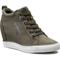 Sneakersy CALVIN KLEIN JEANS - Ritzy R3551 Military. Zielone sneakersy damskie Calvin Klein Jeans, z gumy. Za 499,90 zł.