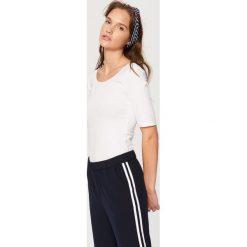 Koszulka z bawełny organicznej - Biały. Białe t-shirty damskie Reserved, l. Za 24,99 zł.