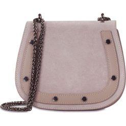 """Torebki klasyczne damskie: Skórzana torebka """"Amparo"""" w kolorze jasnoróżowym – 20 x 17 x 8 cm"""