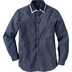 Koszula biznesowa Regular Fit bonprix ciemnoniebiesko-biały wzorzysty. Białe koszule męskie marki bonprix, z klasycznym kołnierzykiem, z długim rękawem. Za 59,99 zł.