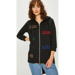 Silvian Heach - Bluza. Czarne bluzy z kapturem damskie Silvian Heach, l, z aplikacjami, z bawełny. Za 319,90 zł.