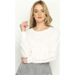 Bluzy damskie: Biała Bluza Bijou