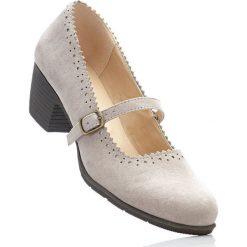 Czółenka z paskiem bonprix brunatny. Brązowe buty ślubne damskie bonprix, w paski. Za 79,99 zł.