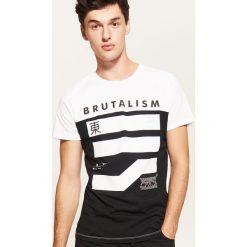 T-shirt z nadrukiem - Biały. Białe t-shirty męskie z nadrukiem marki House, l. Za 39,99 zł.