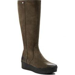 Kozaki EVA MINGE - Felipa 2W 17SM1372229EF 462. Zielone buty zimowe damskie Eva Minge, z nubiku. W wyprzedaży za 319,00 zł.