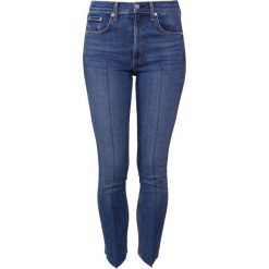 Rag & bone HIGH RISE ANKLE SKINNY Jeans Skinny Fit blue denim. Niebieskie rurki damskie rag & bone, z bawełny. W wyprzedaży za 411,60 zł.