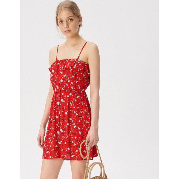 1d0e5c43962611 Sukienka na ramiączkach - Czerwony - Czerwone sukienki damskie ...