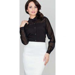 Bielizna damska: Czarna Klasyczna Koszula Damska Zapinana na Zatrzaski