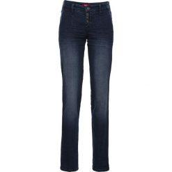Dżinsy ze stretchem chino bonprix ciemnoniebieski. Niebieskie boyfriendy damskie bonprix, z jeansu. Za 89,99 zł.