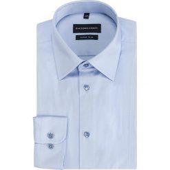 Koszula MICHELE KDNE000334. Niebieskie koszule męskie na spinki Giacomo Conti, m, z bawełny, z klasycznym kołnierzykiem, z długim rękawem. Za 199,00 zł.