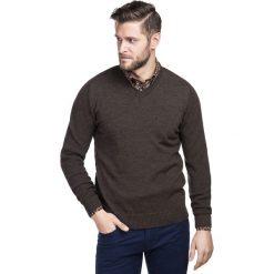 Sweter PAOLO WB 15-83CS. Brązowe swetry klasyczne męskie marki Giacomo Conti, na jesień, m, z bawełny. Za 229,00 zł.