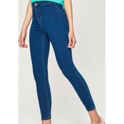Jeansy skinny high waist - Niebieski. Niebieskie spodnie z wysokim stanem Sinsay, z jeansu. Za 49,99 zł.
