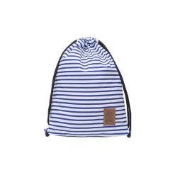 Worek Plecak MARINA. Niebieskie plecaki damskie Aleworek, w paski, z bawełny, marine. Za 43,00 zł.