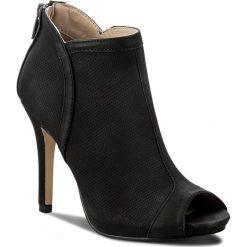Botki JENNY FAIRY - WYL1230S-2 Czarny. Czarne buty zimowe damskie Jenny Fairy, z materiału, na obcasie. W wyprzedaży za 99,99 zł.