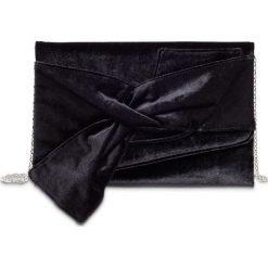 Kopertówka aksamitna bonprix czarny. Czarne puzderka bonprix, eleganckie, na ramię, z kokardką. Za 79,99 zł.