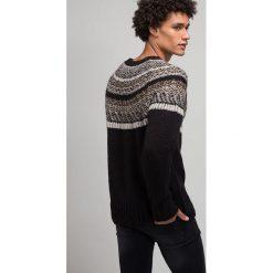 Swetry klasyczne męskie: Weekday GEISIR  Sweter black, beige