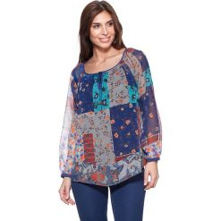 Bluzki asymetryczne: Bluzka z kolorowym wzorem