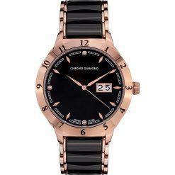 """Zegarki męskie: Zegarek kwarcowy """"Thyrso"""" w kolorze czarno-różowozłotym"""