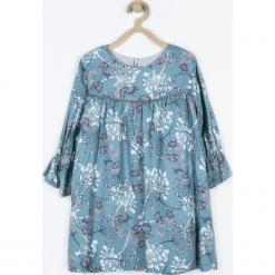 Sukienka. Niebieskie sukienki dziewczęce z falbanami Minimi, z nadrukiem, z bawełny. Za 165,00 zł.