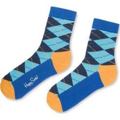 Skarpety Wysokie Unisex HAPPY SOCKS - ARY01-6007 Granatowy Kolorowy. Niebieskie skarpetki męskie Happy Socks, w kolorowe wzory, z bawełny. Za 34,90 zł.