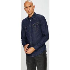 Wrangler - Koszula. Czarne koszule męskie jeansowe Wrangler, l, z klasycznym kołnierzykiem, z długim rękawem. Za 259,90 zł.