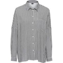 Bluzki damskie: Must have: bluzka koszulowa z nadrukiem bonprix czarno-biały w kratę