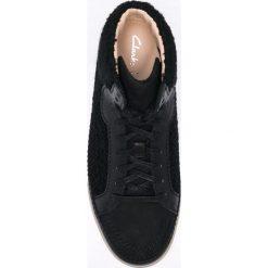 Clarks - Buty. Czarne buty sportowe damskie Clarks, z materiału. W wyprzedaży za 199,90 zł.