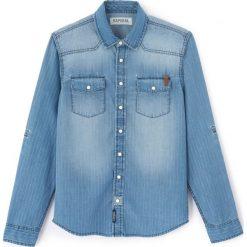 Odzież chłopięca: Prosta gładka koszula z kołnierzykiem polo