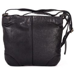 Torebki klasyczne damskie: Skórzana torebka w kolorze czarnym – 27 x 25 x 6 cm