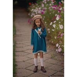 Sukienka MARINE. Zielone sukienki dziewczęce z falbanami Pakamera, z bawełny, marine. Za 169,00 zł.
