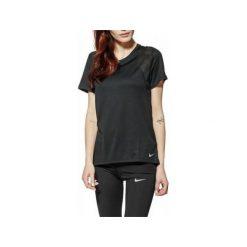 Bluzki damskie: Nike Koszulka damska W Run Top SS Tee  czarna r. M  (890353-010)