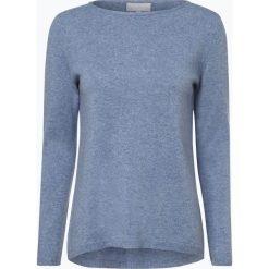Marie Lund - Sweter damski z czystego kaszmiru, niebieski. Niebieskie swetry klasyczne damskie Marie Lund, s, z dzianiny. Za 449,95 zł.