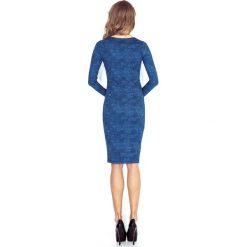 Sara Sukienka z dekoltem w SEREK - JASNY JEANS NIEBIESKI. Niebieskie sukienki marki morimia, s, z jeansu, z dekoltem w serek, z długim rękawem. Za 119,99 zł.