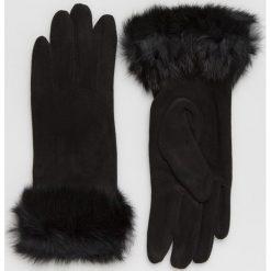 Answear - Rękawiczki. Czerwone rękawiczki damskie ANSWEAR, z dzianiny. Za 69,90 zł.