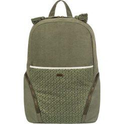 """Plecak """"Bombora"""" w kolorze khaki - 47 x 40 x 15 cm. Brązowe plecaki męskie Roxy, w koronkowe wzory, z koronki. W wyprzedaży za 130,95 zł."""